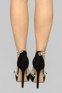 Turn Around Heeled Sandals - Black Angle 4
