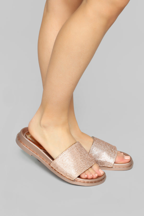 4084290fa95 Not Available For You Slides - Rose Gold