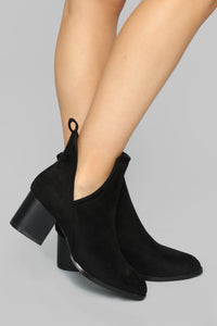 Escape With Me Booties - Black