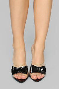 Bow Perfect Heeled Sandal - Black