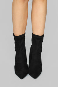 Top Of The List Booties - Black Angle 6