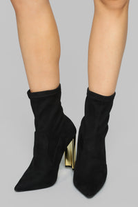 Top Of The List Booties - Black Angle 3