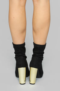 Top Of The List Booties - Black