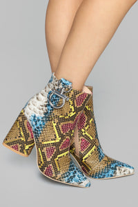 No Backing Out Bootie - Mulit Color