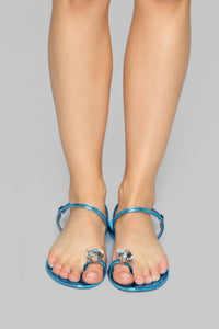 Extra Chic Flat Sandals - Blue