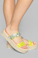 Risk It All Flat Sandals - Yellow