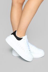 Locked Away Sneakers - White/Black