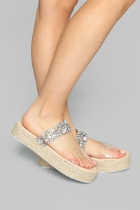 Risk It All Flat Sandals - Clear