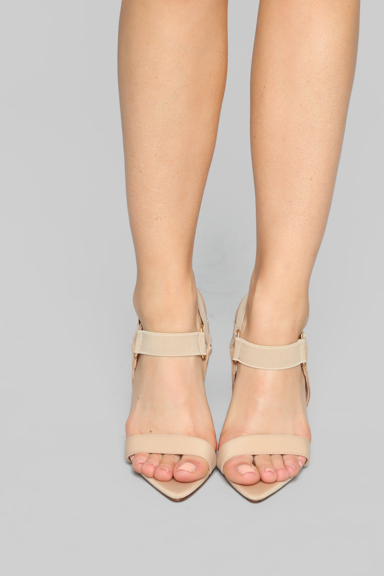 Brave And Beautiful Heeled Sandal - Nude/Nude