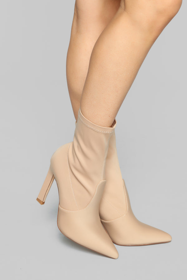 0866b5928bd How You Remind Me Booties - Nude