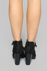 Against The World Booties - Black
