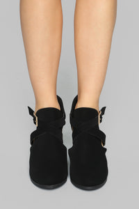Gave You Everything Booties - Black