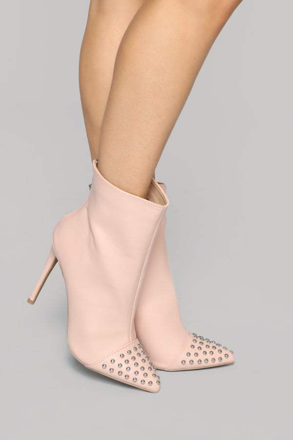 4c603b083a Mine And Only Mine Booties - Nude
