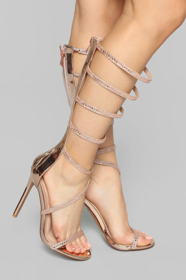 e99eebcac21 Show Me Heeled Sandal - Rose Gold