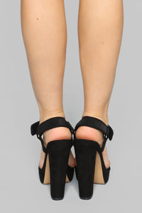Not Today Heeled Sandal - Black
