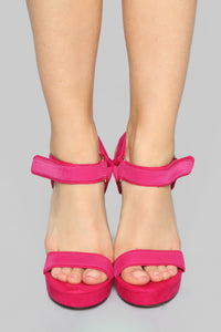 Not Today Heeled Sandal - Pink Angle 2