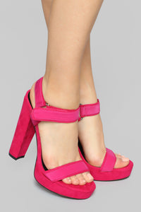 Not Today Heeled Sandal - Pink Angle 1