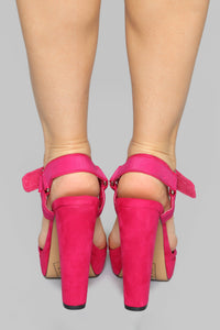Not Today Heeled Sandal - Pink Angle 3
