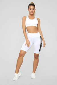 Savage Active Biker Short - White
