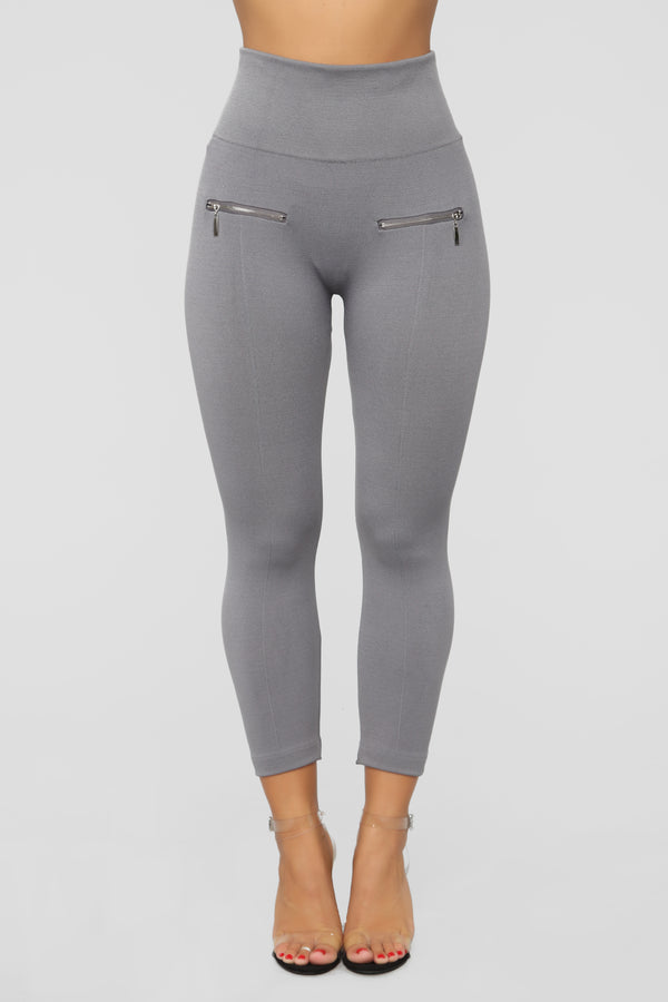 45e3b3ec452 Talk Is Cheap Leggings - Grey