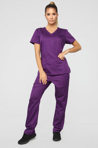 Remedy Scrub Top - Eggplant