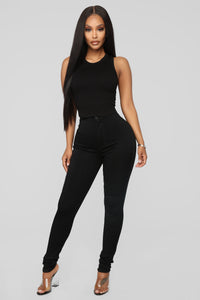 You're So Basic High Rise Jeans - Black