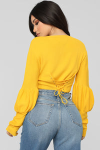 Sweet But Psycho Top - Yellow