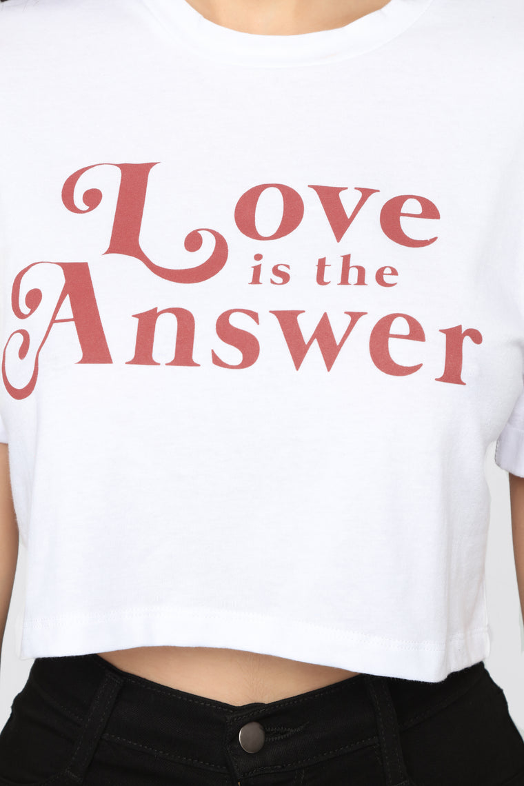 Love Is The Answer Top - Ivory