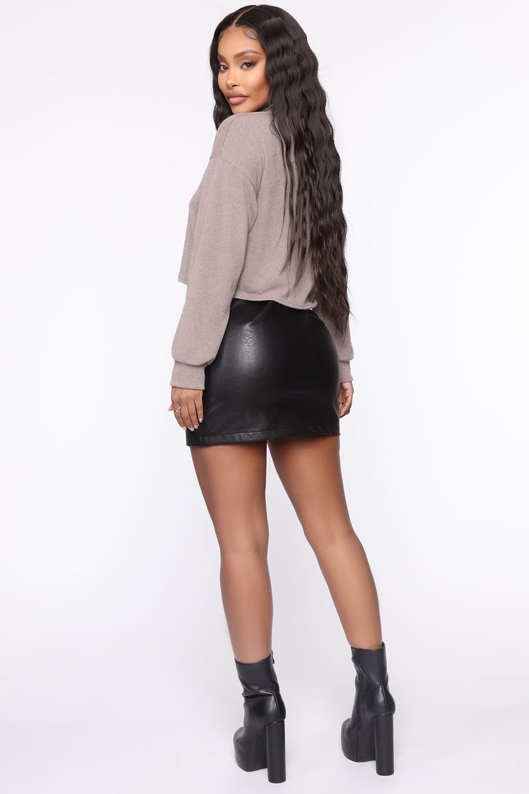 Harley PU Mini Skirt - Black