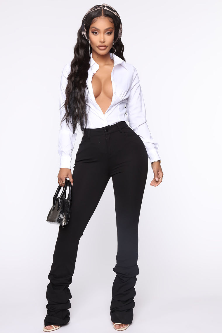 Shake The Beat Stacked Pant Black Pants Fashion Nova