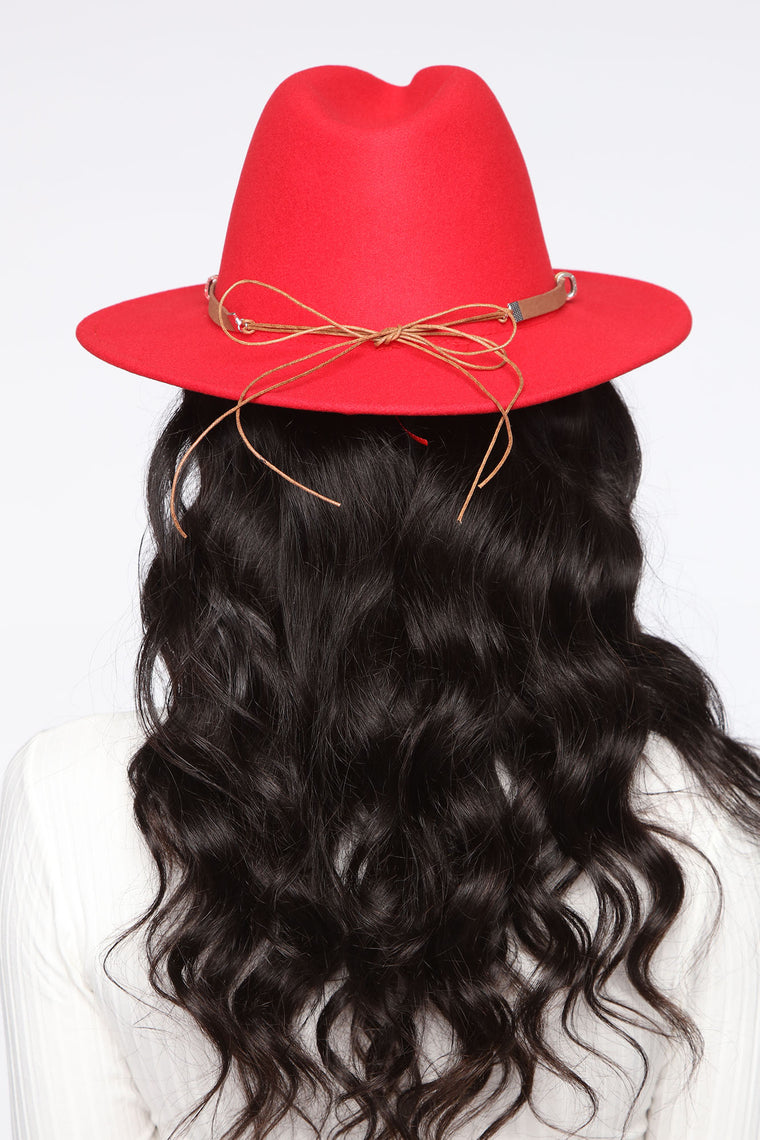 Always On The Move Fedora - Red