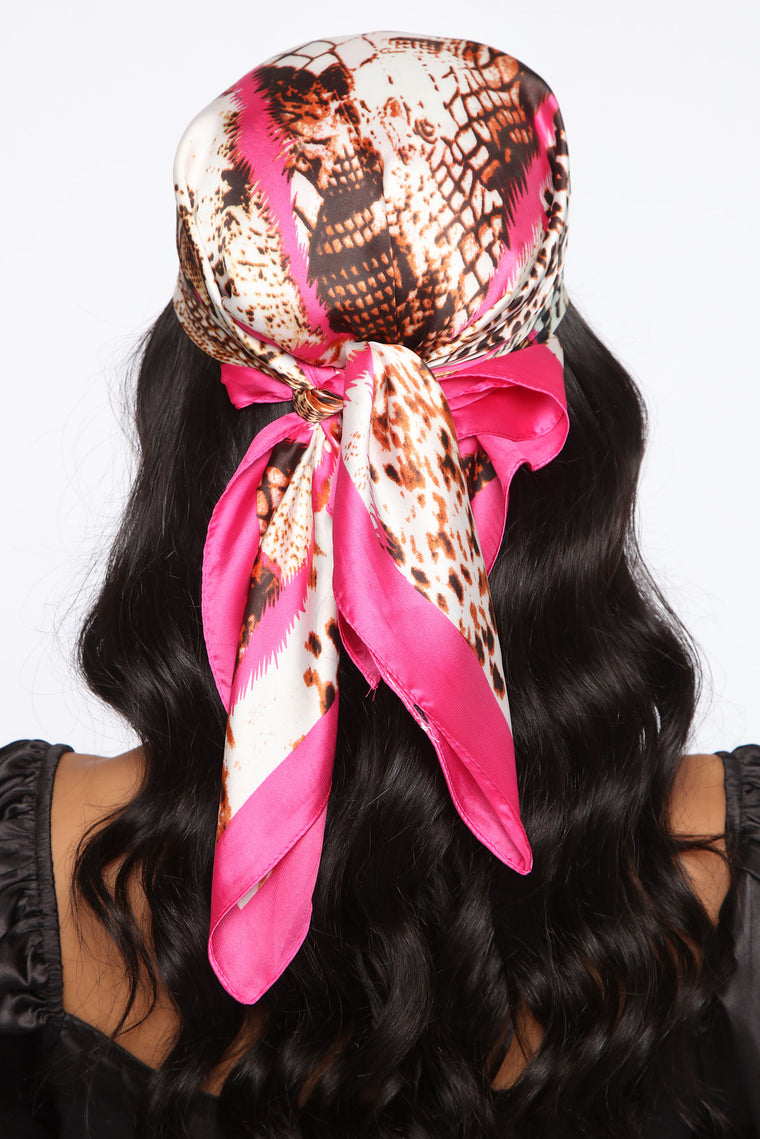 Mixed Emotions Head Scarf - Fuchsia