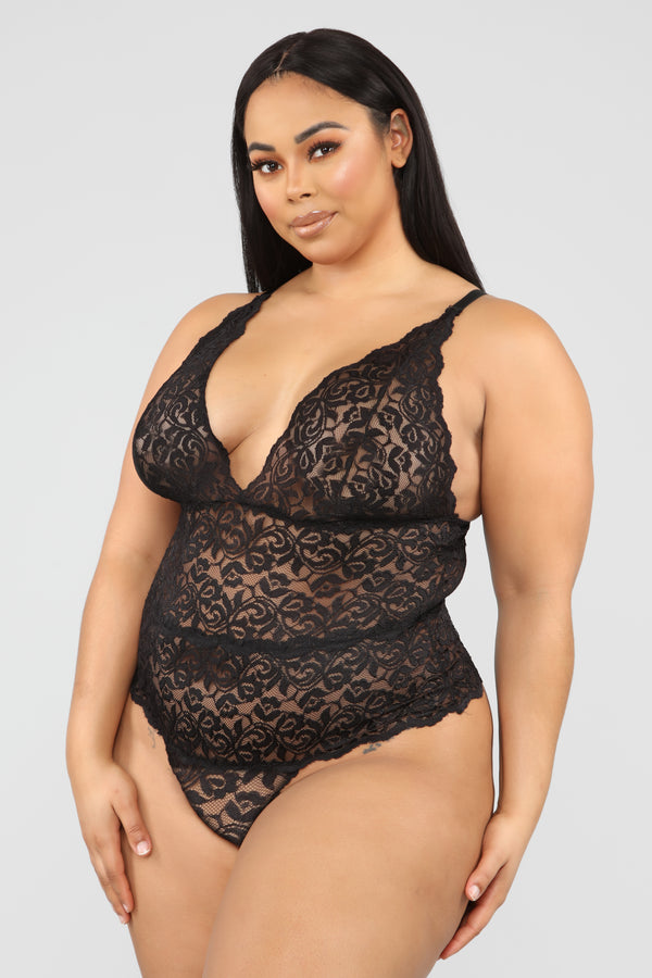 ca5fa84d9 In A Lace Mood Teddy - Black