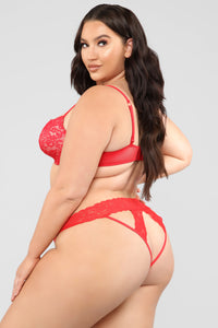 Take A Peek Lace Bikini Panty - Red