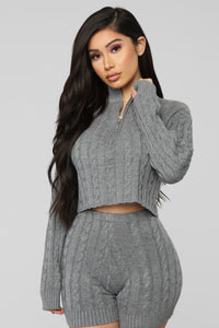 Spring Street Sweater Set - Grey