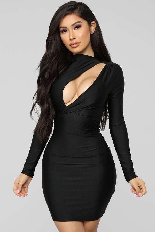 Only Here Tonight Cut Out Dress - Black 3c98186b0