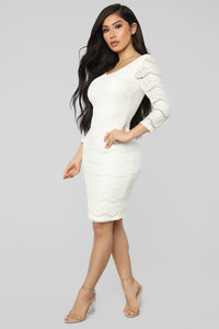 Top Floor Lace Dress - Ivory