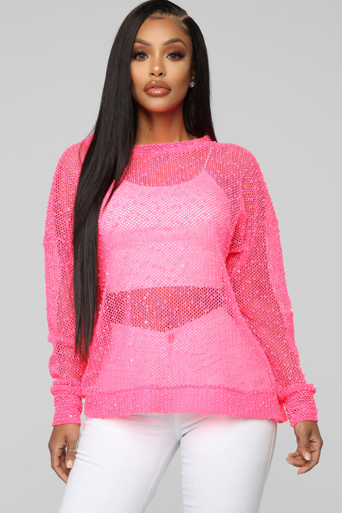 Attention Seeker Top - Neon Pink