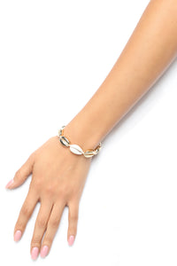 Shell Be A Star Bracelet - Gold