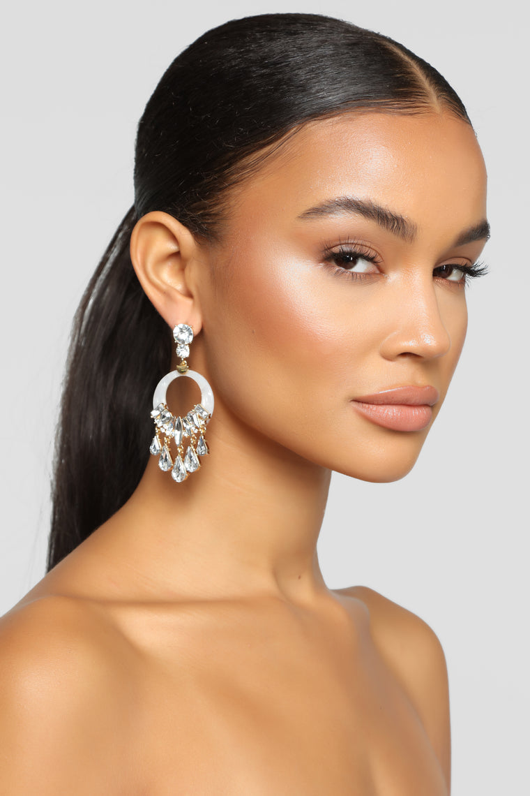 Jazmyn Diamond Earrings - Ivory