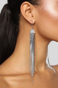 Ready For The Show Earrings - Silver Angle 2