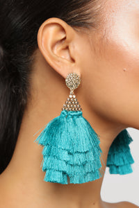 In Tiers Earrings - Turquoise