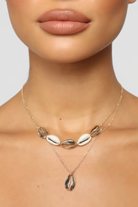 In A Nut Shell Necklace - Gold Angle 1