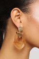 Drop It Like It's Hot Earrings - Tortoise