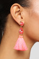 Keep It Interesting Earrings - Neon Pink