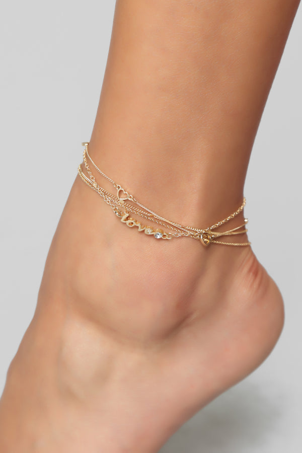 14d60842dfa59 Where Is The Love Anklet - Gold