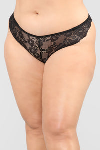 Cage My Lover Panty - Black