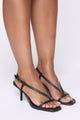 Always Posh Heeled Sandal - Black