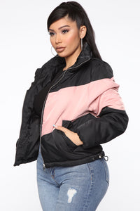 Sorry You're Colorblocked Jacket - Black/combo Angle 1
