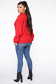 Poetic Justice Art Sweatshirt - Red
